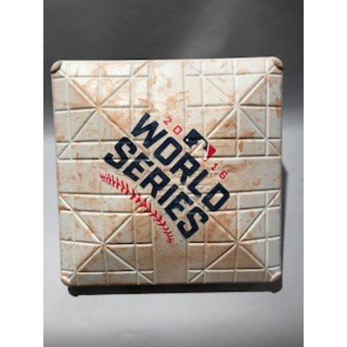 Photo of 2016 World Series Base - 2nd Base used in innings 3-4 of Game 1 - 10/25/16