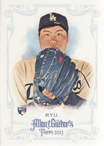 Photo of 2013 Topps Allen and Ginter #246 Hyun-Jin Ryu Rookie Card