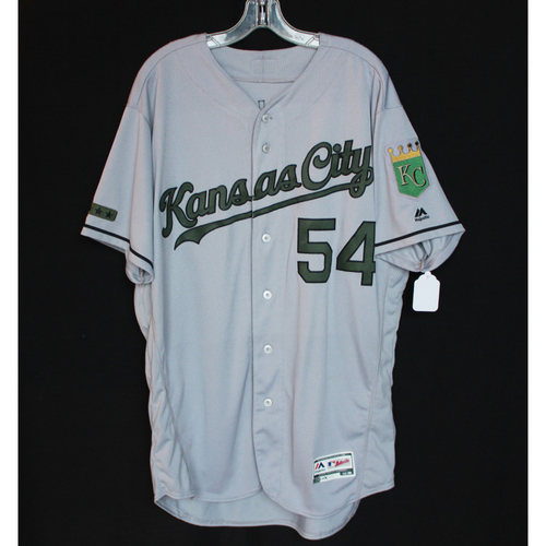 Photo of Game-Used Jersey: Tim Hill (Size 48 - KC @ TEX - 5/27/18)