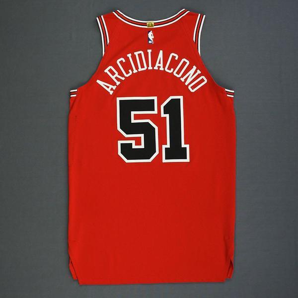 a4ec336e180 Ryan Arcidiacono - Chicago Bulls - Mexico Games - Game-Worn Icon ...