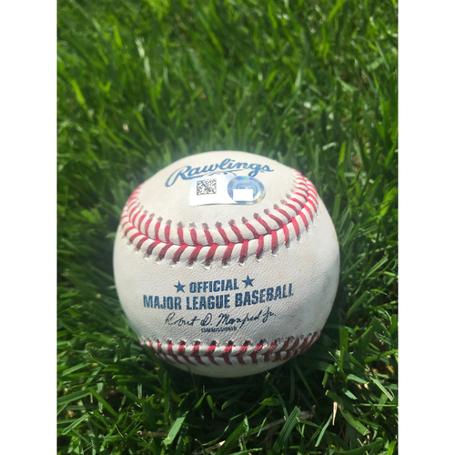 Photo of Cardinals Authentics: Game Used Baseball Pitched by Mike Mayers and Dakota Hudson to Anthony Rendon and Juan Soto *Rendon Double, Soto Ball in Dirt*