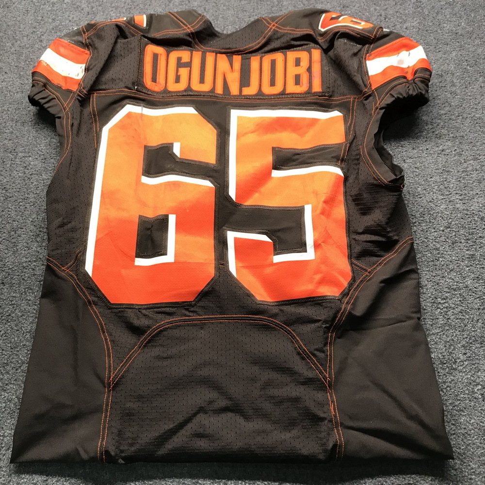 save off 01d09 5e30f NFL Auction | STS - Browns Larry Ogunjobi Game Used Jersey ...