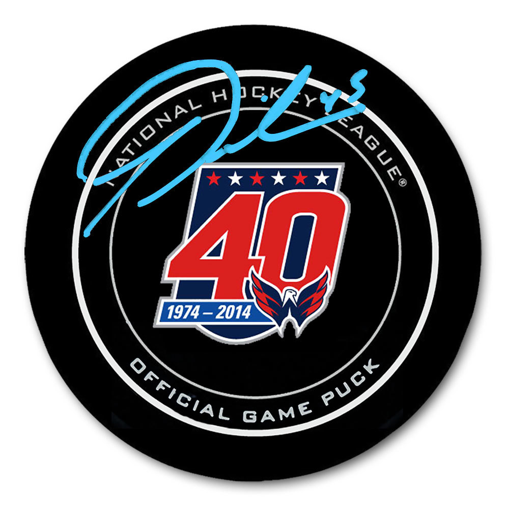 Tom Wilson Washington Capitals 40th Anniversary Autographed Official Game Puck