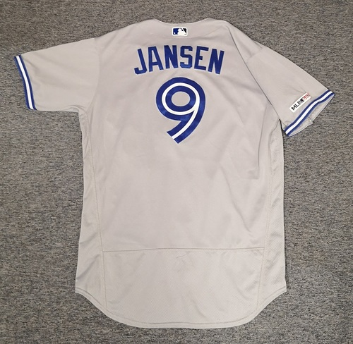 Photo of Authenticated Game Used Jersey: #9 Danny Jansen (May 17, 19 vs CWS: 2-for-4 with 1 HR, 1 Run, 2 RBIs and 1 BB). Size 48