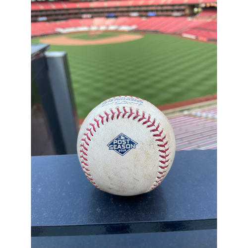 Photo of Cardinals Authentics: Game Used Pitched Baseball by Max Scherzer to Matt Carpenter and Tommy Edman *Carpenter Ground out, Edman Ball*