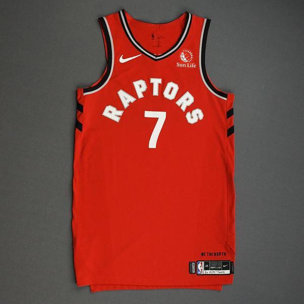 Image of Kyle Lowry - Toronto Raptors - Game-Worn Icon Edition Jersey - NBA Japan Games - Dressed, Did Not Play - 2019-20 NBA Season