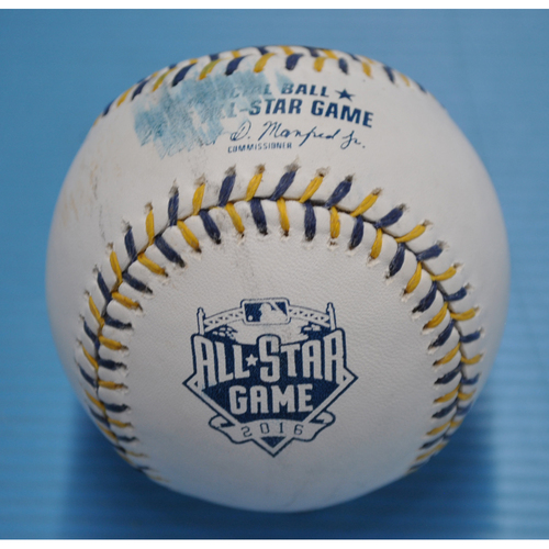 Photo of Game-Used Baseball - 2016 All-Star Game Workout Day - American League Batting Practice Baseball