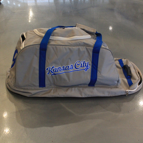 Photo of Game-Used Spring Training 2020 Bag: Kevin Merrell #79