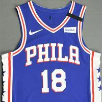 Shake Milton - Philadelphia 76ers - Game-Worn Icon Edition Jersey - 2019-20 NBA Season Restart