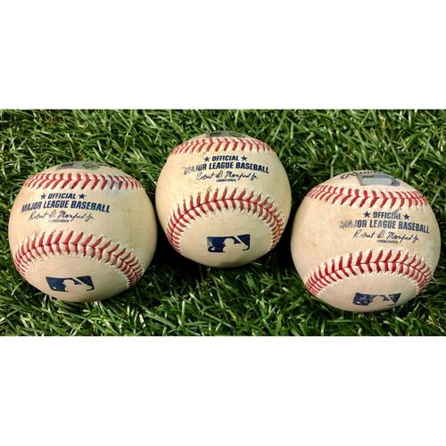 Photo of Game Used Baseball Package: Renato Nunez, Hanser Alberto & Cedric Mullins - August 25-26, 2020 v BAL
