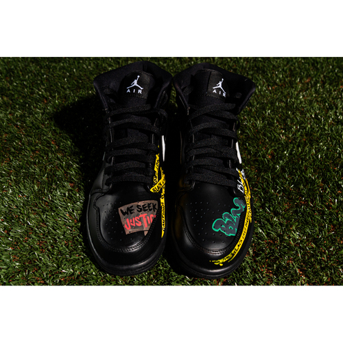 Photo of Promote the Vote: Custom Design Sneakers Theme: BLM and Game-Used Baseball