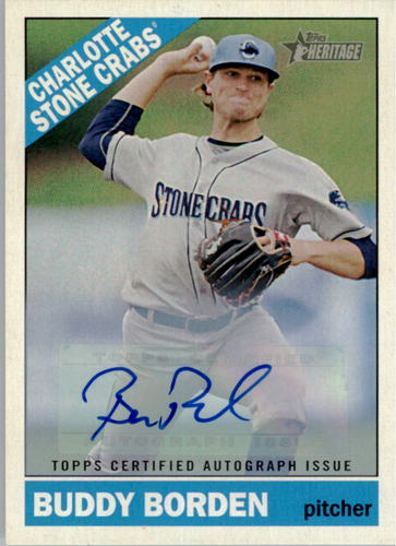 Photo of 2015 Topps Heritage Minors Real One Autographs #ROA68 Buddy Borden