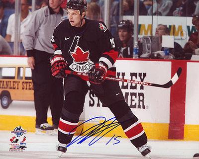 DANNY HEATLEY Team Canada SIGNED 8x10 Photo World Cup Photo