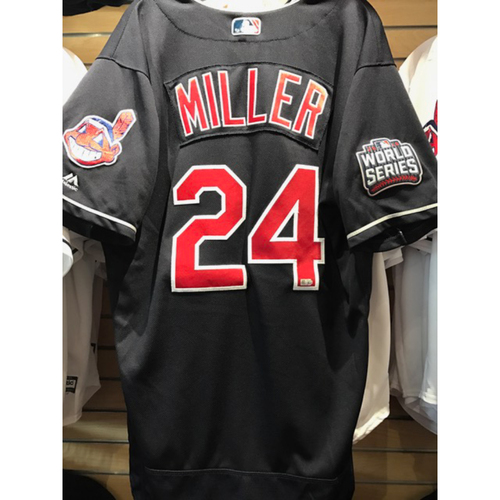 Andrew Miller Game Used Jersey, 2016 World Series vs. Chicago Cubs - GAME 7