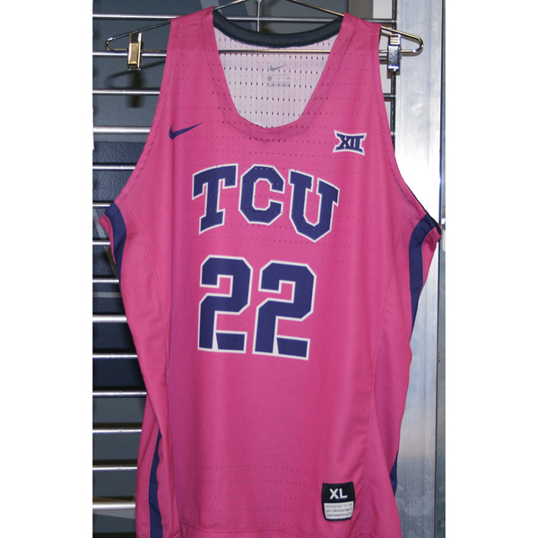 Photo of Women's Basketball Pink Game Worn Nike® Jersey #22 (XL)