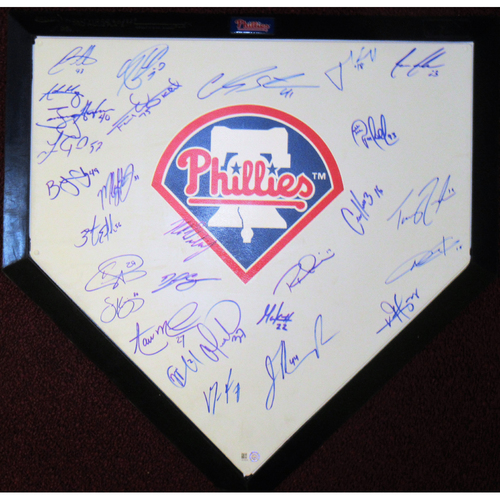 Photo of 2018 Phillies Signed Homeplate
