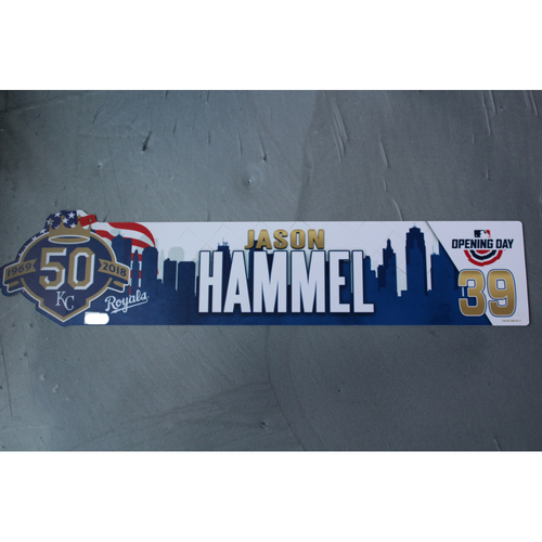 Photo of Opening Day Locker Nameplate: Jason Hammel