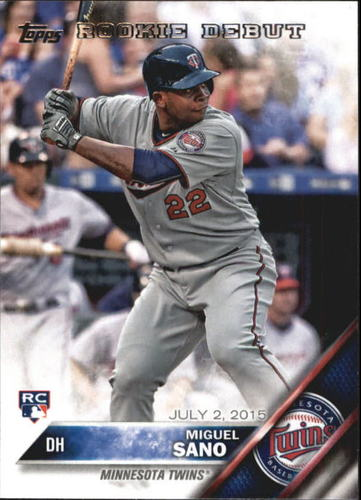 Photo of 2016 Topps Update #US171 Miguel Sano RD