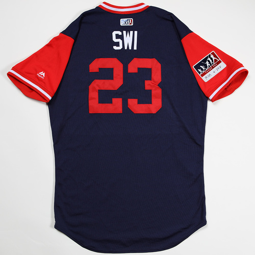 "Photo of Blake ""SWI "" Swihart Boston Red Sox Game-Used 2018 Players' Weekend Jersey"