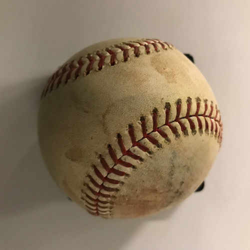 Photo of Ozzie Albies Game-Used Hit Single RBI Baseball - 9/2/2018