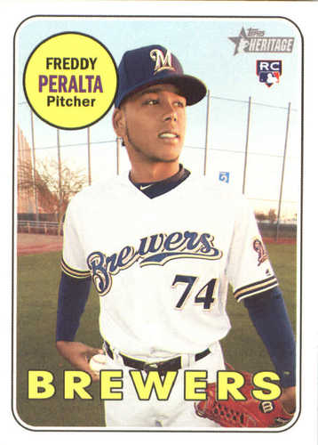 Photo of 2018 Topps Heritage #541 Freddy Peralta RC