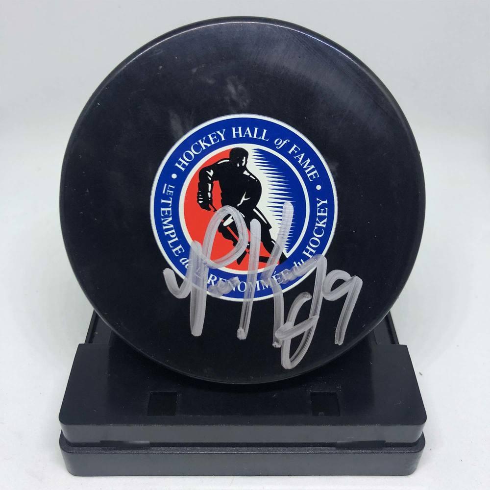 Hockey Hall of Fame Puck Signed by Paul Kariya