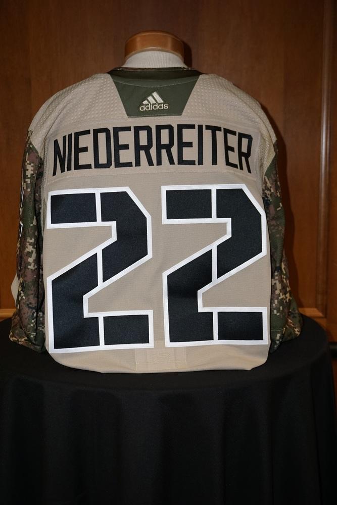 promo code d7e2a c53c5 Nino Niederreiter Minnesota Wild 2018-19 Camouflage Warm-Up ...