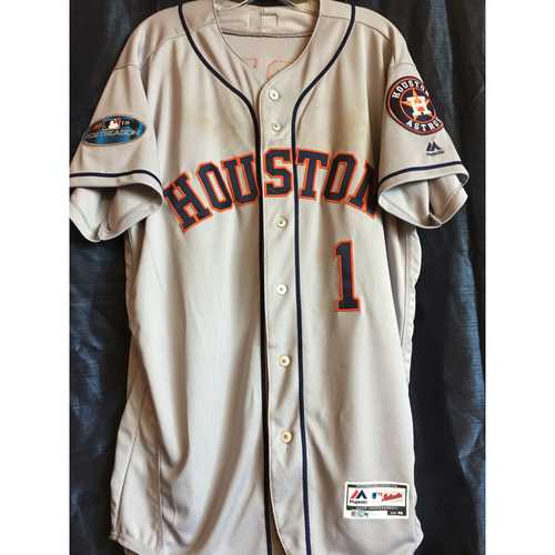 Photo of Carlos Correa 2018 Game-Used ALCS Jersey