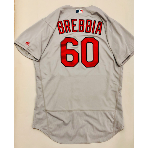 Photo of 2019 Mexico Series Game Used Jersey - John Brebbia Size 46 (St. Louis Cardinals)