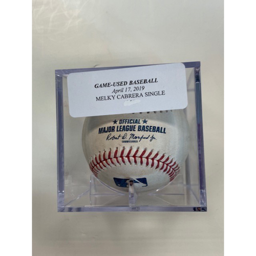 Game-Used Baseball: Melky Cabrera Single