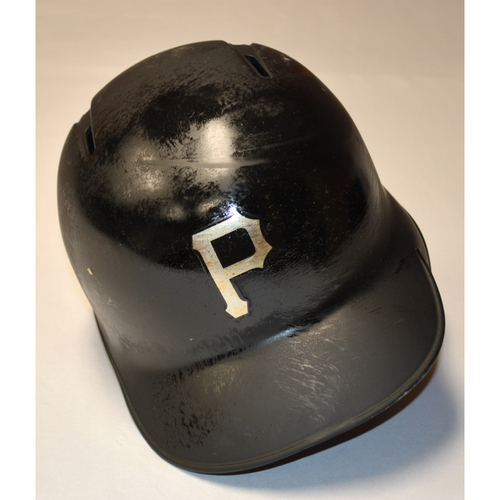 "Photo of Erik ""LA PARITA"" Gonzalez Pittsburgh Pirates Game-Used 2019 Players' Weekend Helmet"