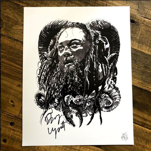 Photo of Bray Wyatt (tentacles) SIGNED 11 x 14 Rob Schamberger Print