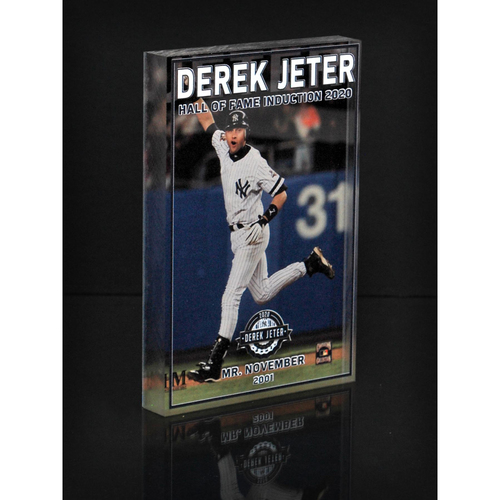 "Photo of MLB AUCTIONS EXCLUSIVE: Derek Jeter HOF ""Mr. November"" Acrylic Block Collection #6 - Series of 7!"