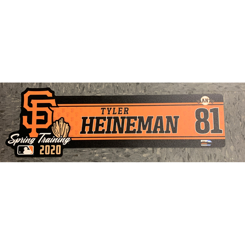 2020 Spring Training Locker Tag - #81 Tyler Heineman