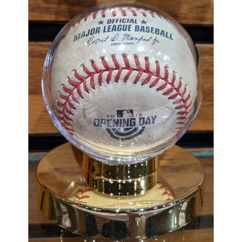 Photo of Red Sox vs. Rays April 5, 2018 Game Used Opening Day Baseball