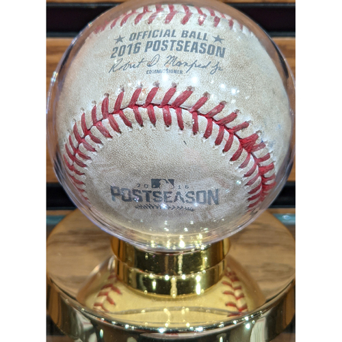 Photo of 2016 ALDS Game 3 Red Sox vs. Indians Game Used Baseball - Joe Kelly to Francisco Lindor Foul