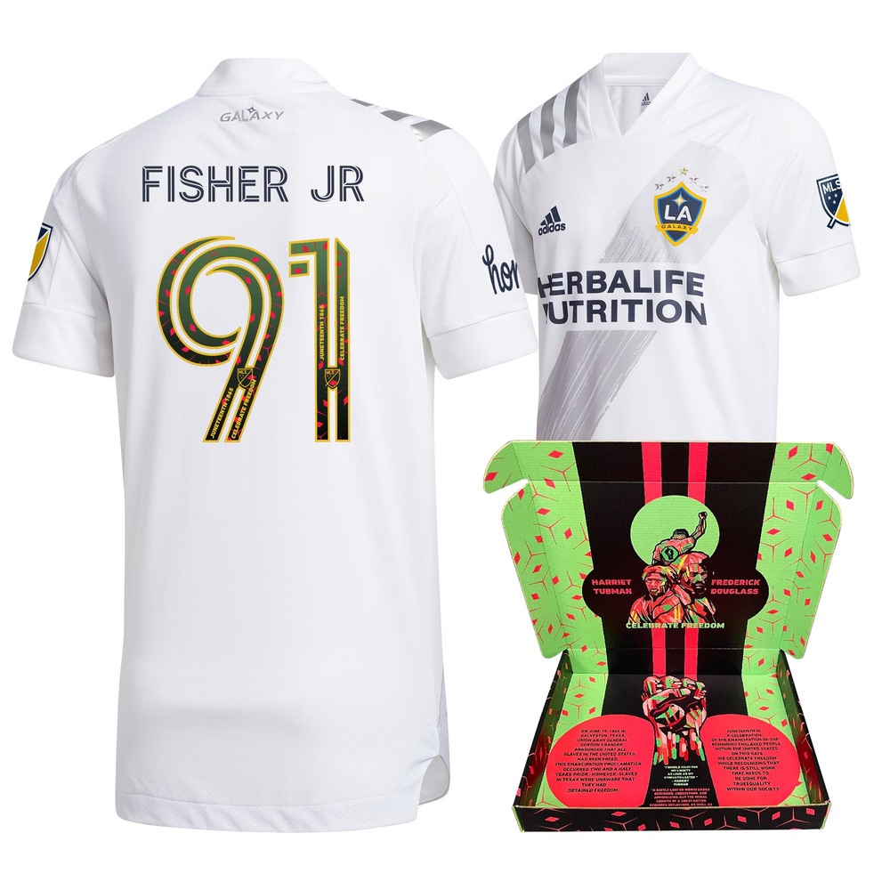 Oneil Fisher Jr. Los Angeles Galaxy FC Player-Issued & Signed