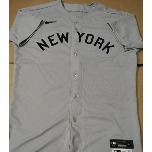 Photo of 2021 New York Yankees vs. Chicago White Sox in Dyersville, Iowa - Game-Used 1919 Throwback Jersey - Joey Gallo (Worn 7-9 Innings) - Size 46