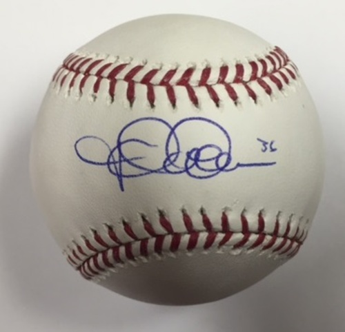 Photo of Jered Weaver Autographed Baseball