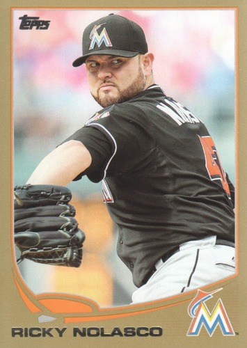 Photo of 2013 Topps Gold #608 Ricky Nolasco