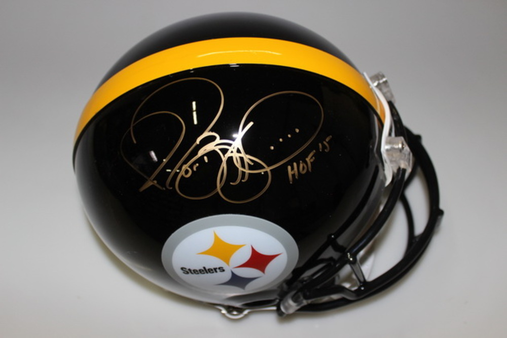 HOF - STEELERS JEROME BETTIS SIGNED STEELERS PROLINE HELMET