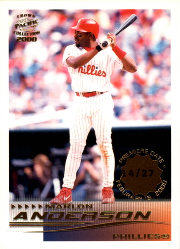 Photo of 2000 Pacific Crown Collection Premiere Date #211 Marlon Anderson