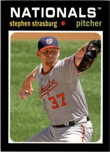 Photo of 2013 Topps Update 1971 Topps Minis #45 Stephen Strasburg -- Nationals post-season