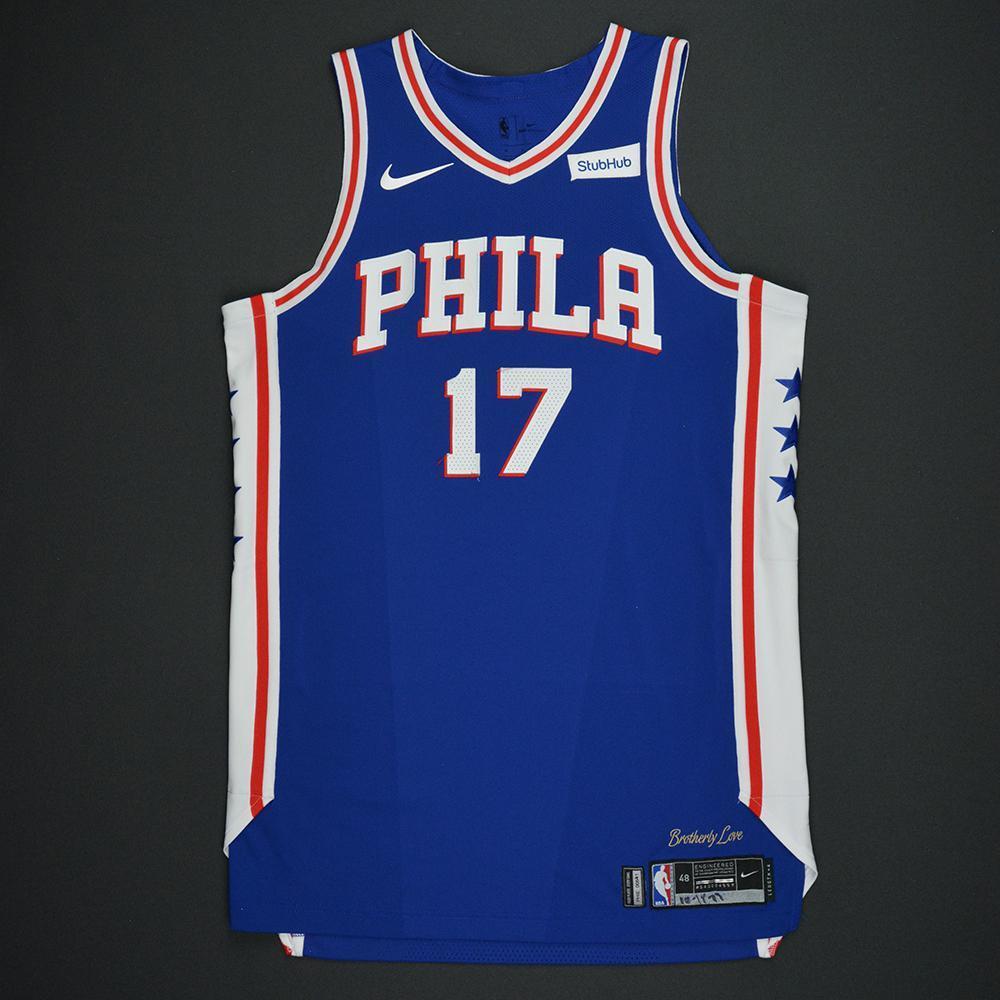 3a0da6a0c83b ... JJ Redick - Philadelphia 76ers - Kia NBA Tip-Off 2017 - Game-Worn ...