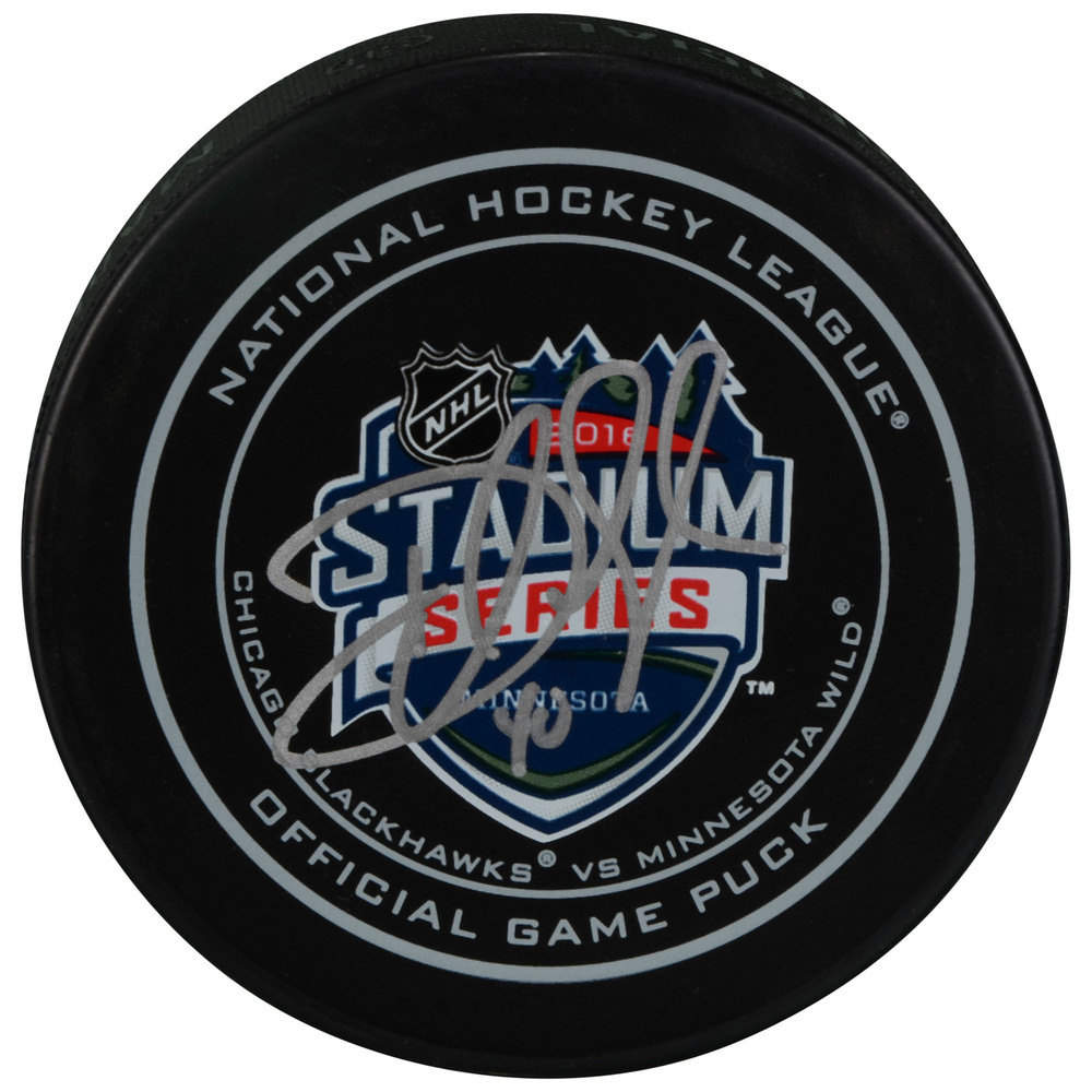 Devan Dubnyk Minnesota Wild Autographed 2016 Stadium Series Official Game Puck