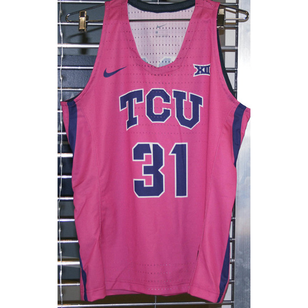 Photo of Women's Basketball Pink Game Worn Nike® Jersey #31 (L)