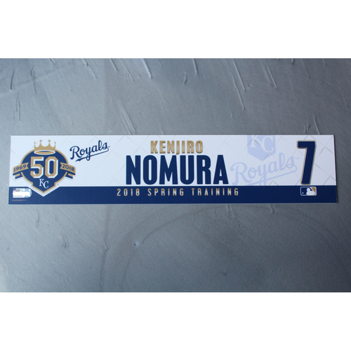 Photo of Spring Training Locker Nameplate: Kenjiro Nomura
