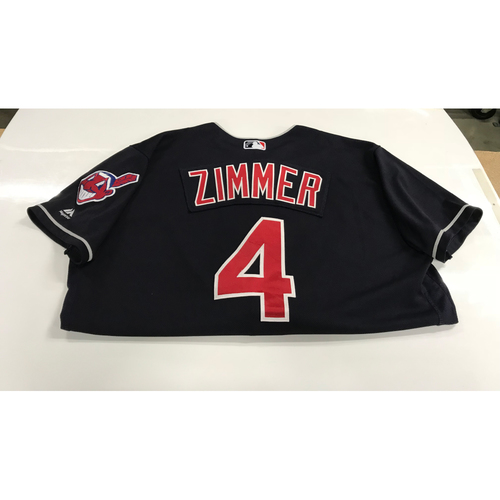 Photo of Bradley Zimmer Game-Used 2018 Opening Day Jersey (Road 3/29 @ SEA)