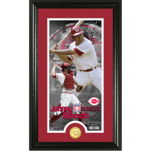 Photo of Johnny Bench National Baseball Hall of Fame Supreme Bronze Coin Photo Mint