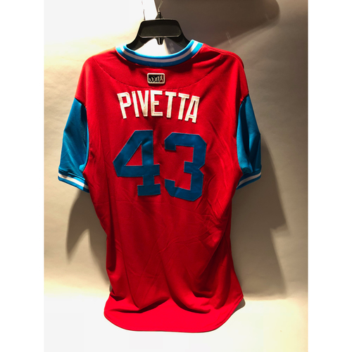 "Photo of Philadelphia Phillies 2018 Little League Classic Game-Used Jersey - Nick ""Pivetta"" Pivetta - 8/19/2018"